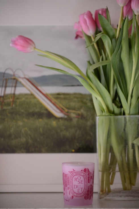 Pink tulips_Valentine's Day Rose_Baies candle