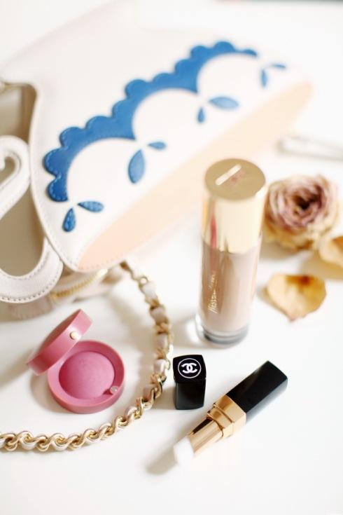 Bourjois-blusj-Chanel-lipbalm-YSL-foundation